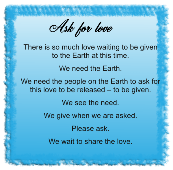 Ask for love