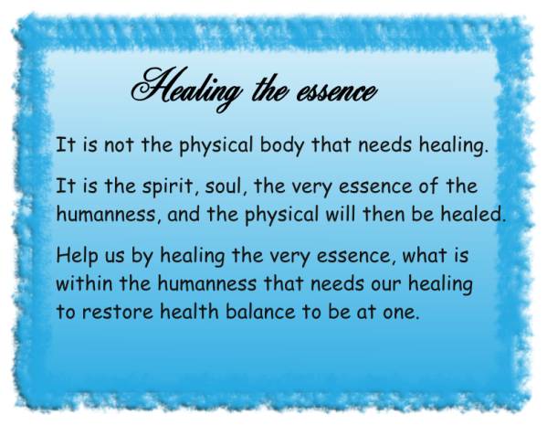 Healing the essence