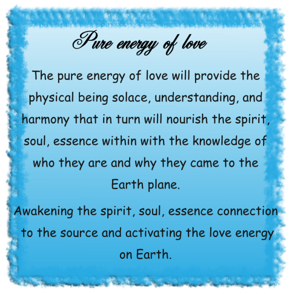 Pure energy of love