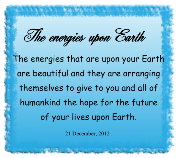 The energies upon Earth