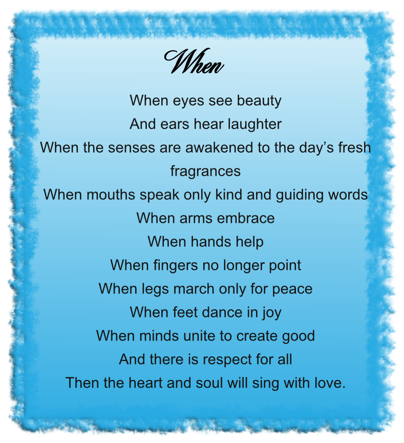Spiritual Love Poems: Channelled Spiritual Poem From The Circle Of The