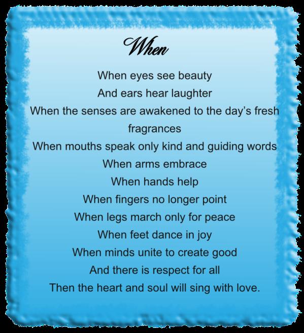 When - Verse
