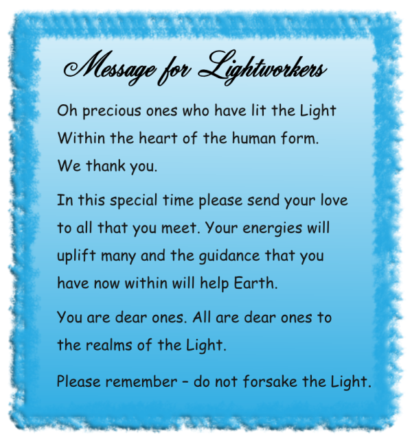 Message for Lightworkers