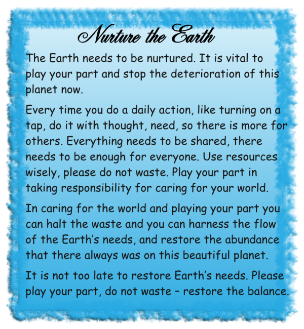 Nurture the Earth