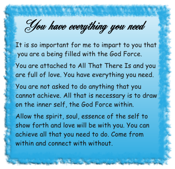 You have evrything you need