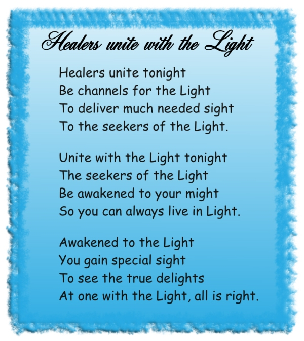 Healers unoite with the Light