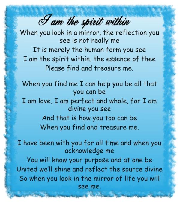 I am the spirit within