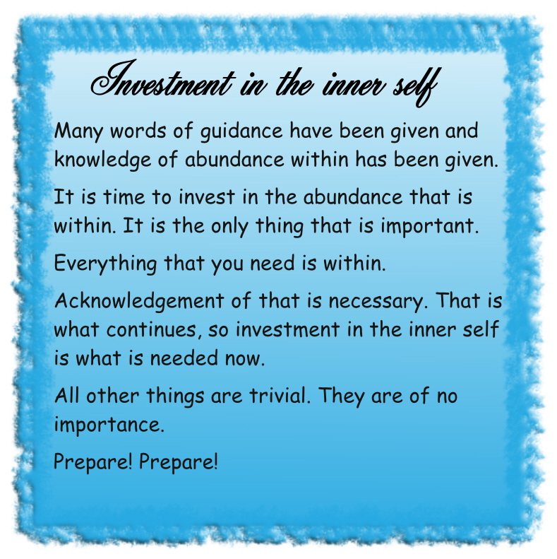 Investment in the inner self