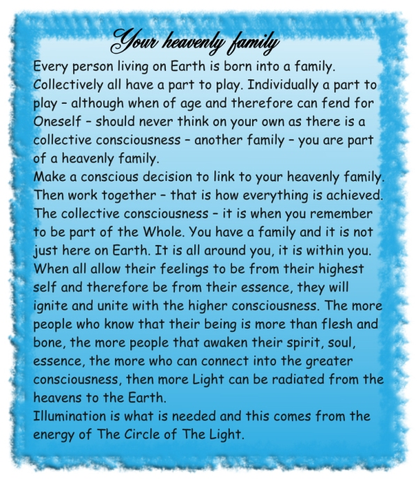 Your heavenly family