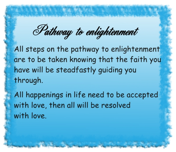 Pathway to enlightenment
