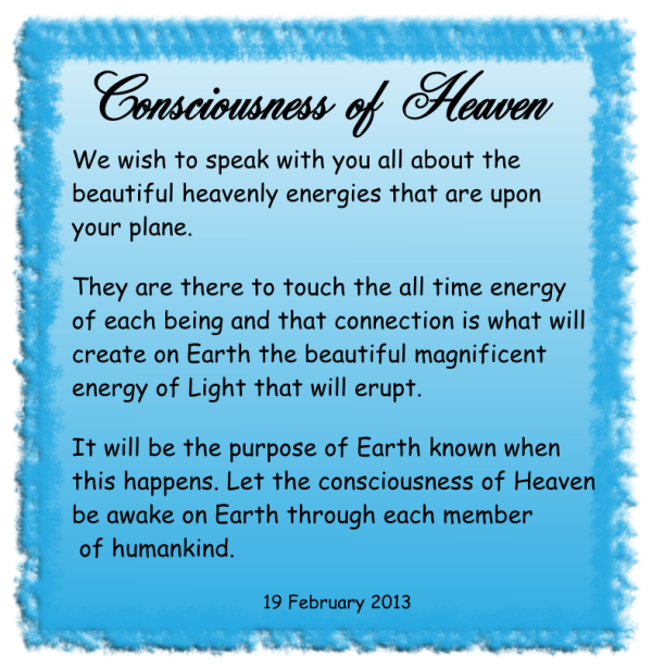 consciousness of heaven