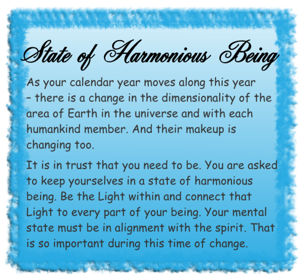 State of harmonious being