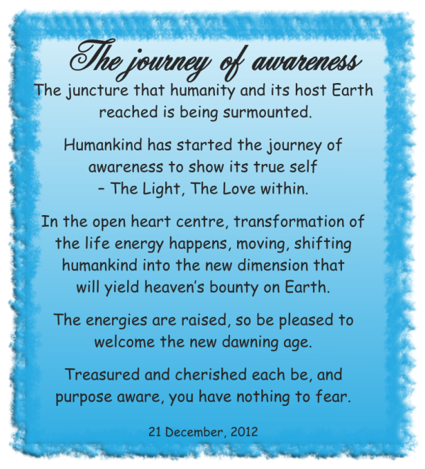 The journey of awareness
