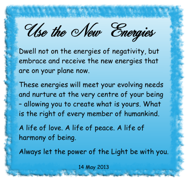 Use the new energies