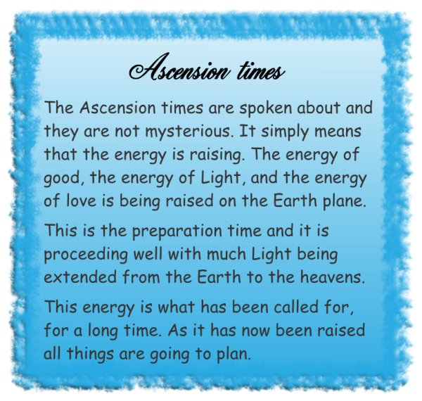 Ascension times
