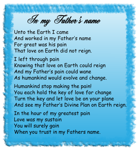 In my Father's name