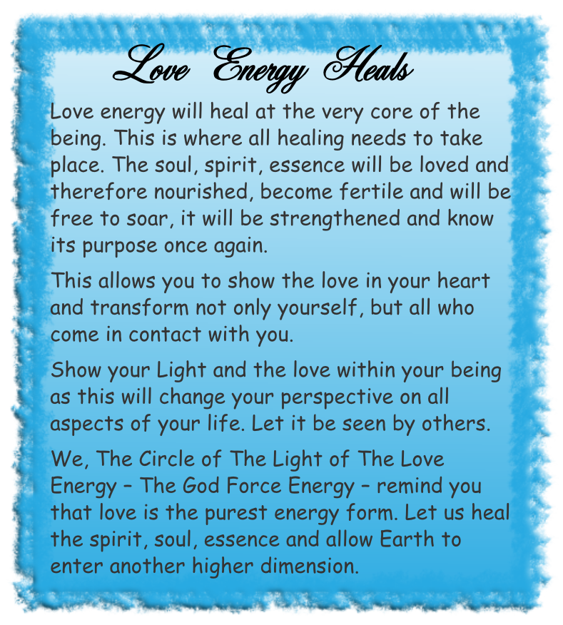 Love Energy Heals