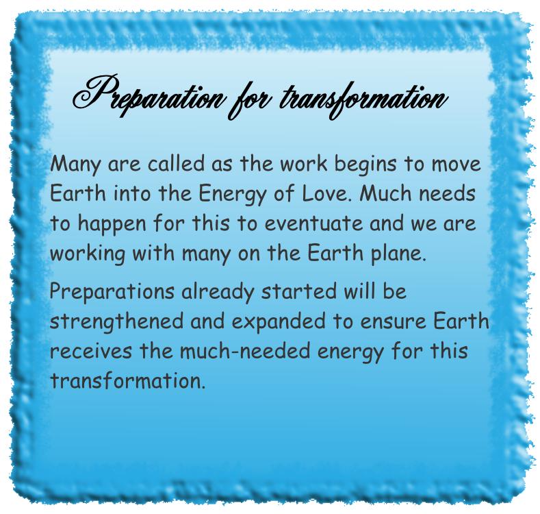 Preparation for transformation