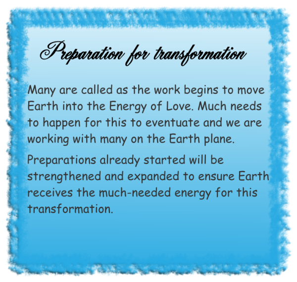Preparation for transformation