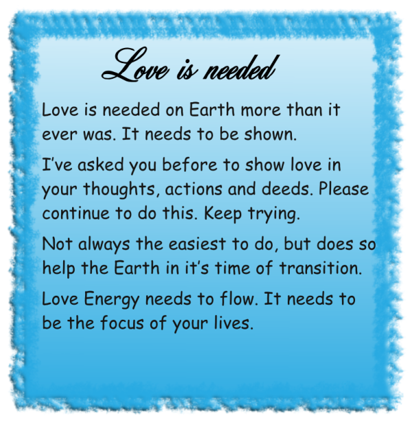 Love is needed