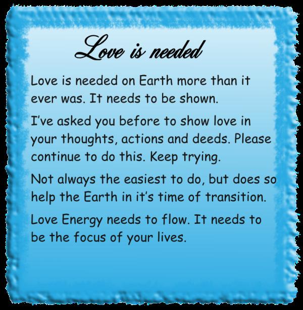 Love is needed