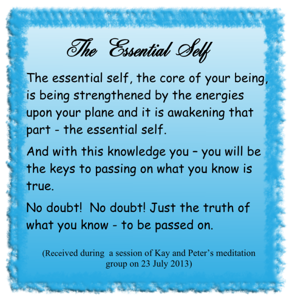 The essential self