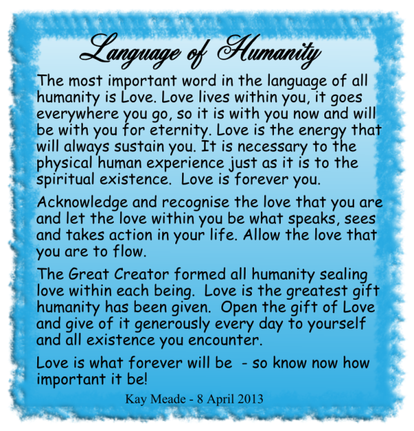 Language of Humanity