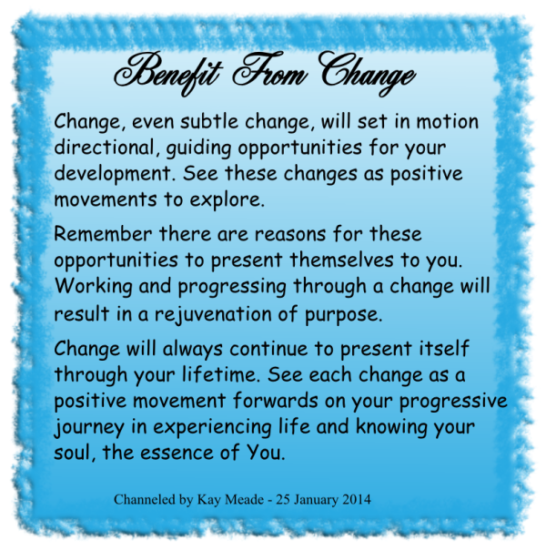 Benefit From Change