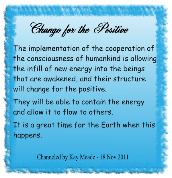 Change for the Positive