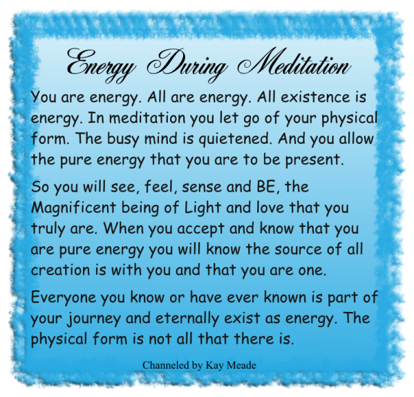 Energy During Meditation