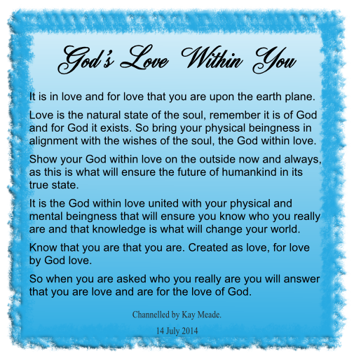 God's Love Within You