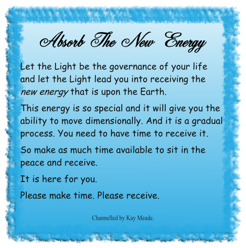 Absorb the new energy