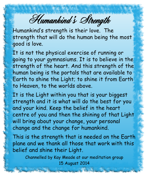Humankind's Strength