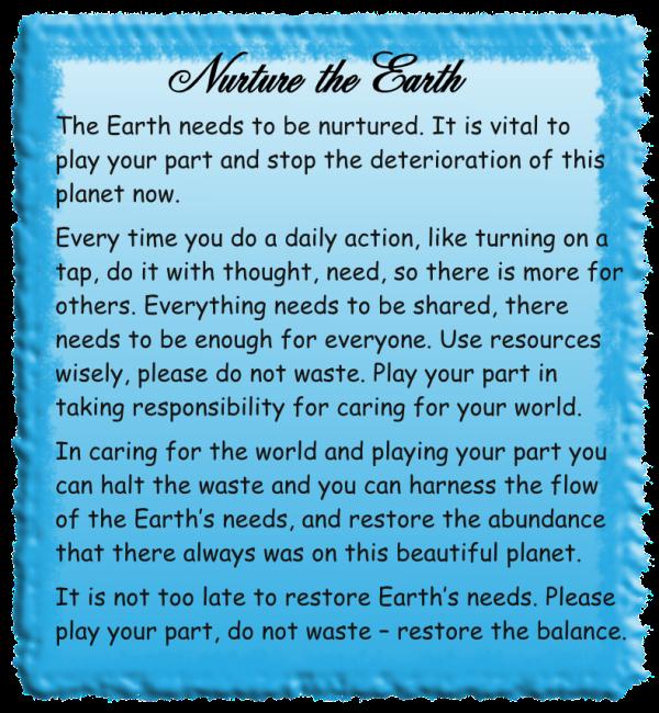 Nurture the Earth