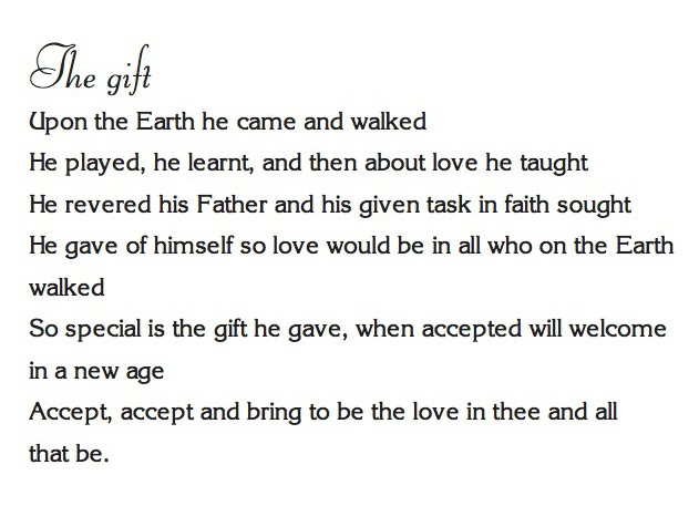 """The gift"""" – A poem from Kay's new book of spiritual and ..."""
