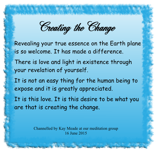 Creating the Change