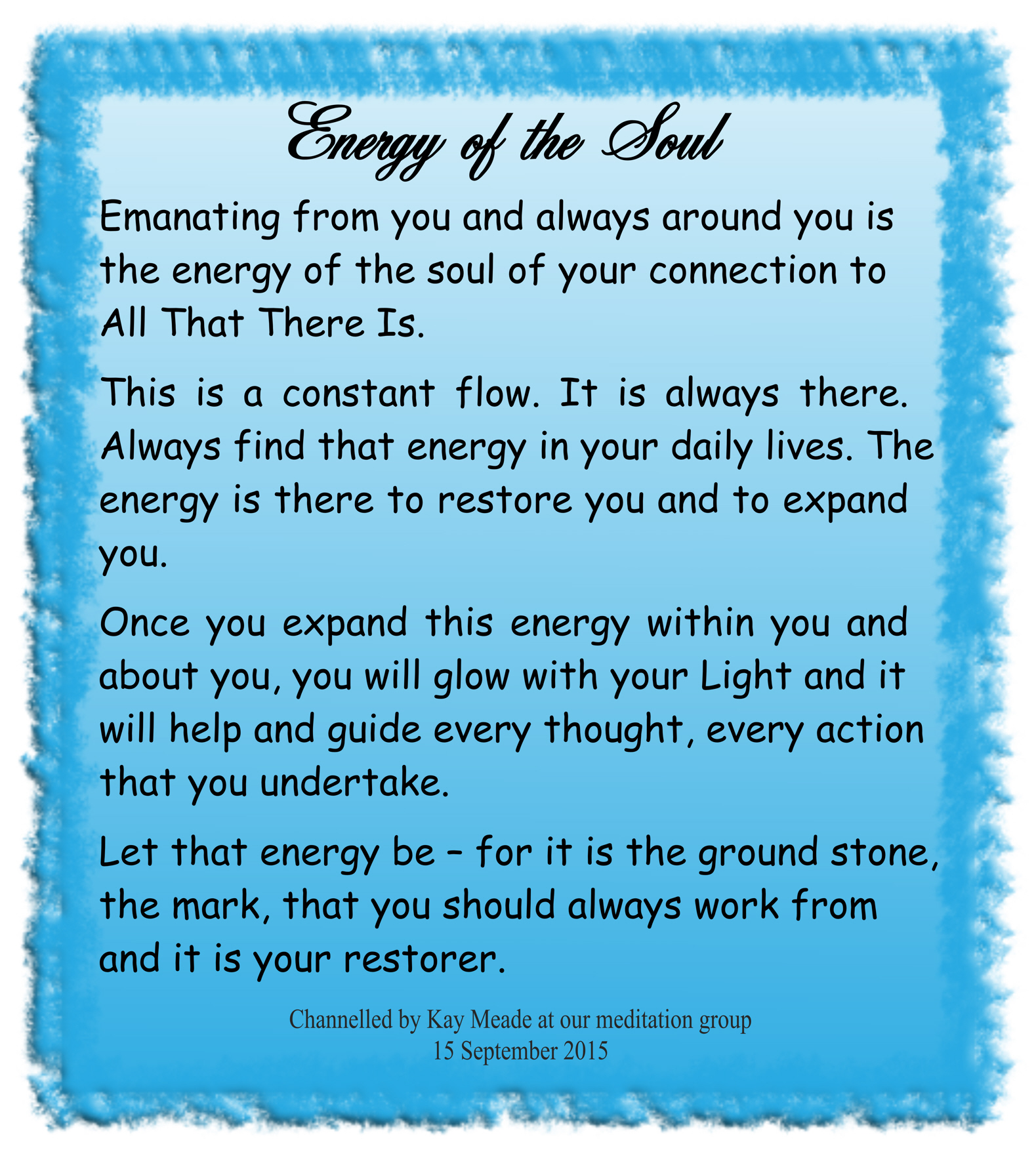 Energy of the Soul