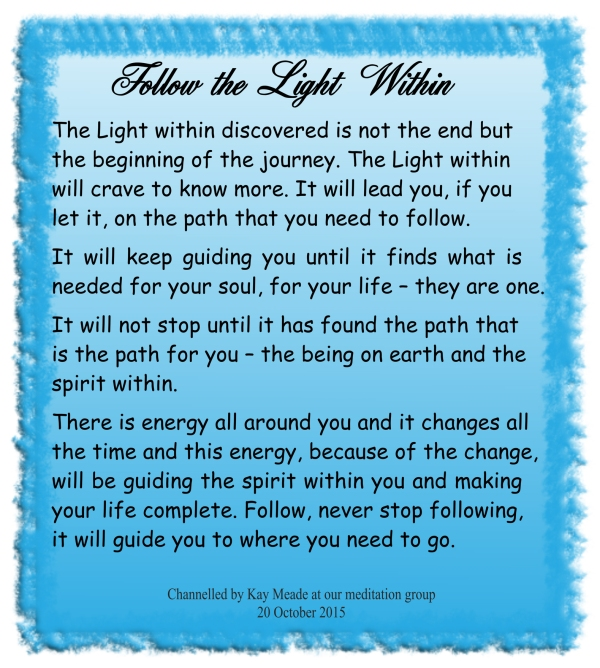 Follow the Light Within