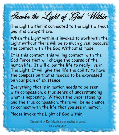 Invoke the Light of God Within