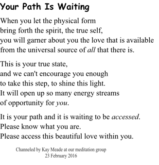 Your Path Is Waiting