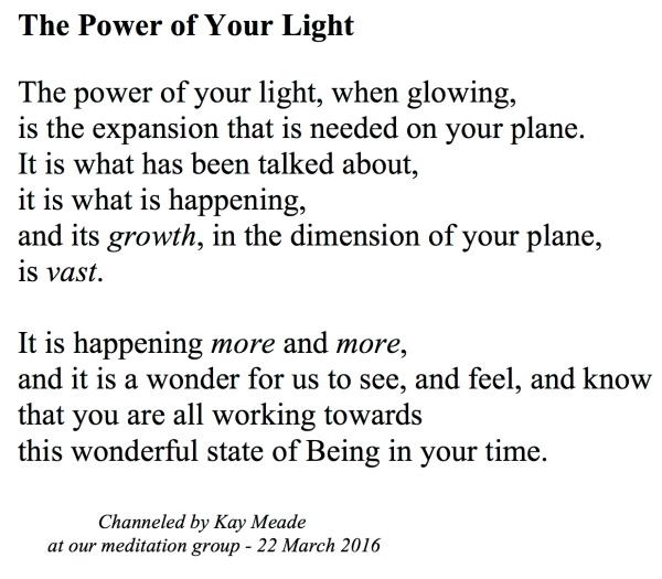 The Power of Your Light
