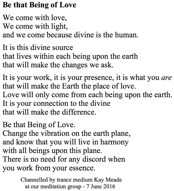 Be that Being of Love