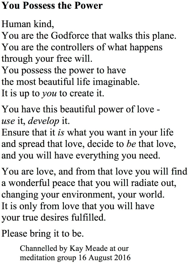You Possess the Power