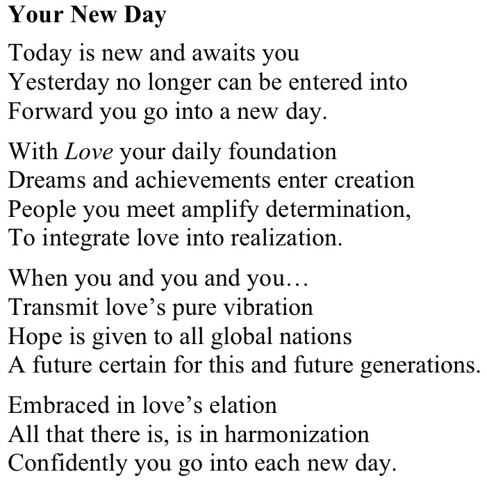 Your New Day - poem