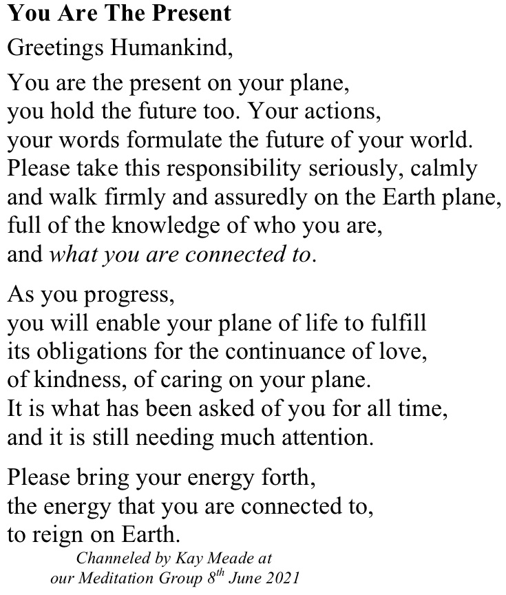 You Are The Present